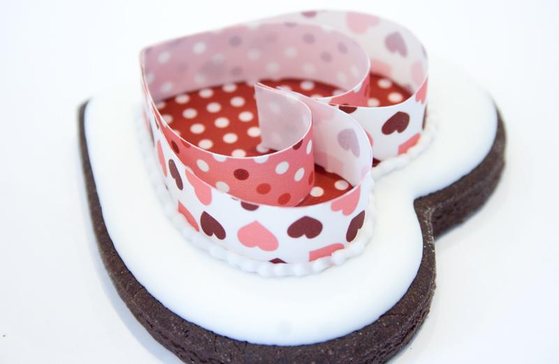 Biscuit en forme de cœur pour la St-Valentin