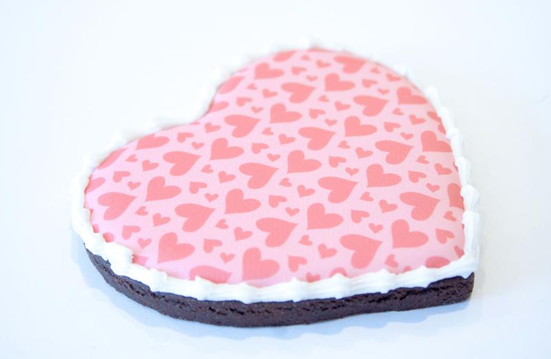 Biscuits pour la St-Valentin avec image comestible