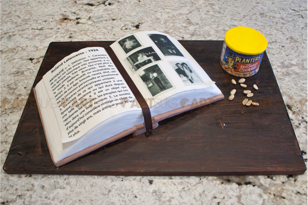 Gâteau album-photo et images comestibles