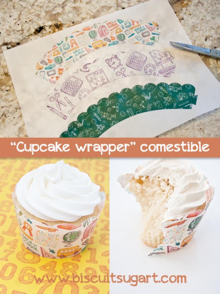 Cupcake wrapper comestible