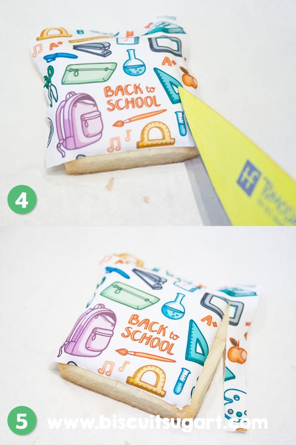 Edible image for new year school / Image comestible pour la rentrée scolaire