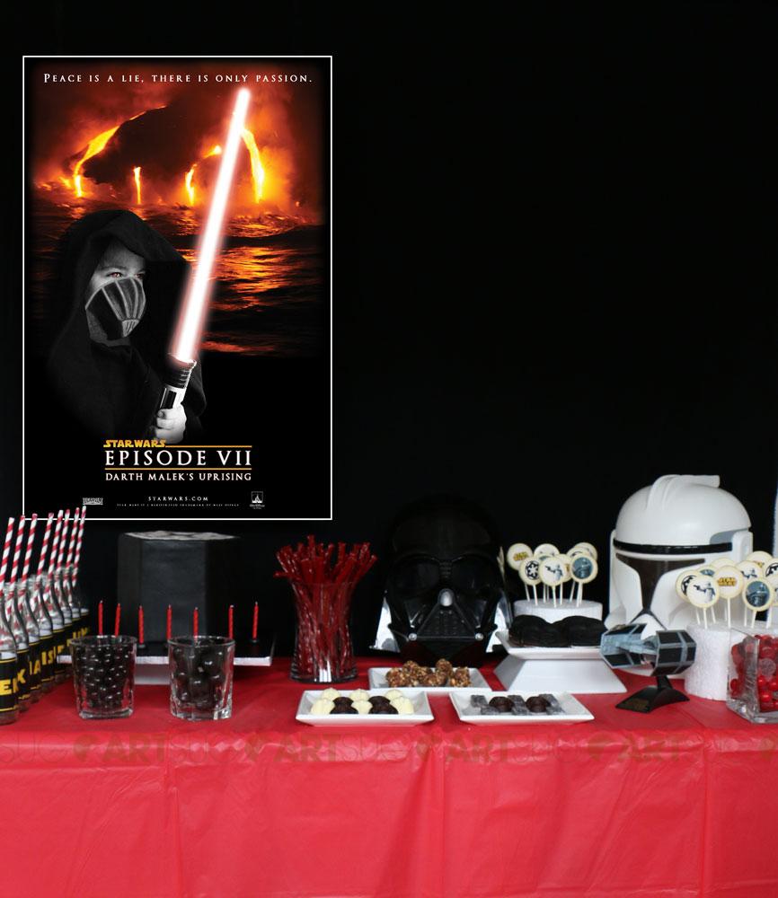 Table sucrée Star Wars pour garçon