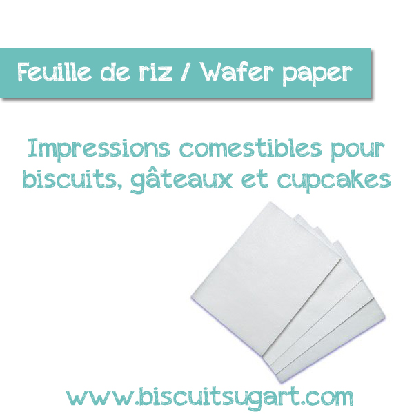 Feuille de riz wafer paper biscuits sug 39 art - Feuille de zinc sur mesure ...