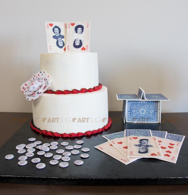 Gâteau avec images comestibles