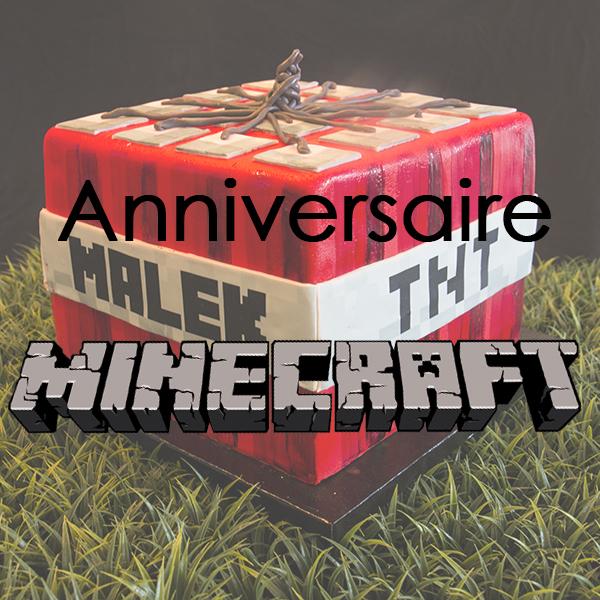 Un anniversaire Minecraft