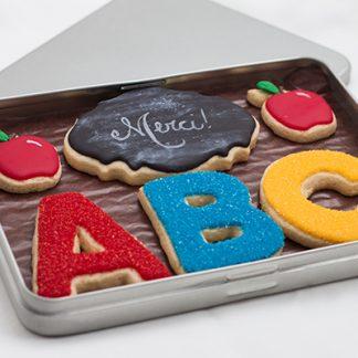 Boite biscuits prof