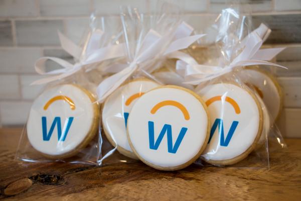 Biscuits corporatif avec logo comestible