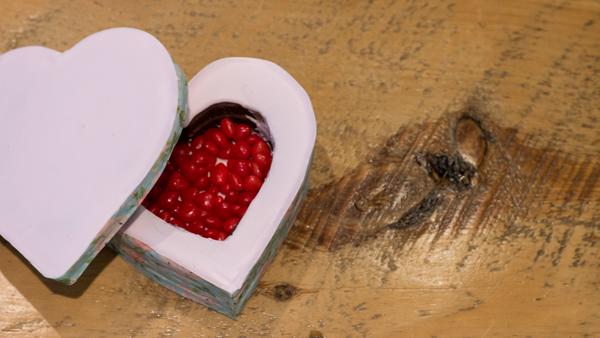 Biscuits en forme de coeur pour la Saint-Valentin