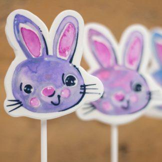 Sucettes de meringue en forme de lapins