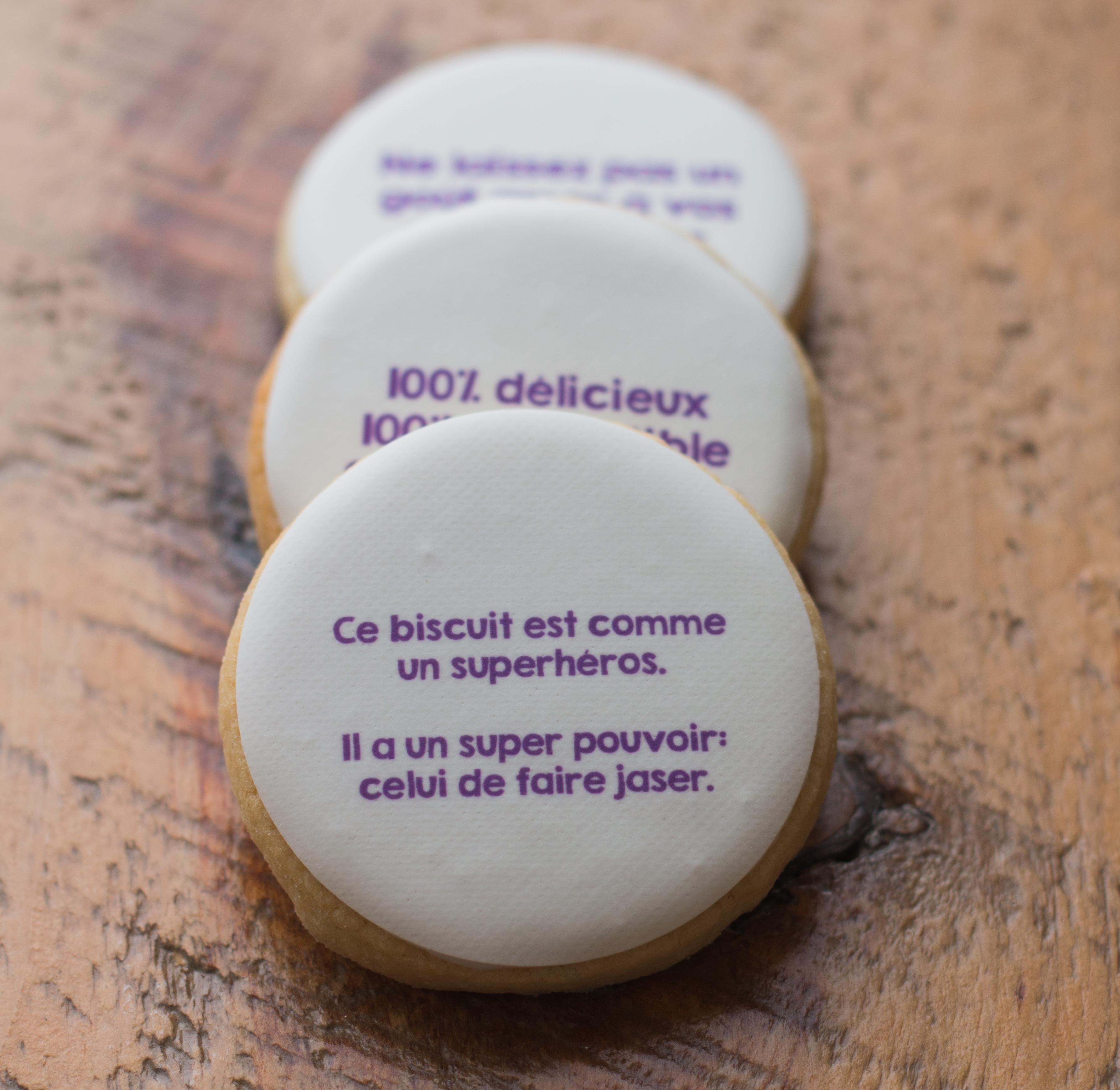 Biscuits personnalisés… jusqu'à la saveur !