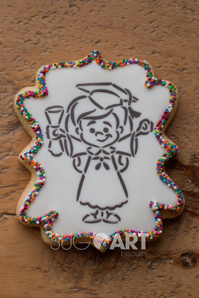 Biscuit décoré pour la fin des classes