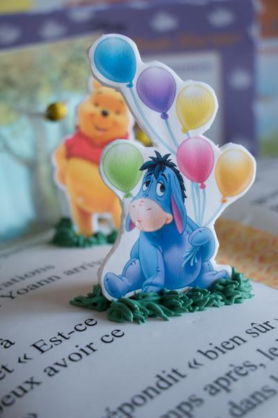 Image comestible de Bourriquet dans Winnie The Pooh sur pâte à sucre