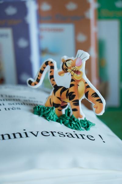 Image comestible de Tigrou dans Winnie The Pooh sur pâte à sucre
