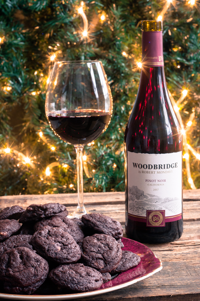 Vin woodbridge et biscuits au chocolat