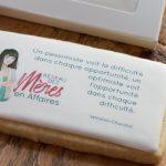 Biscuit servant d'article promotionnel au goût irréprochable.
