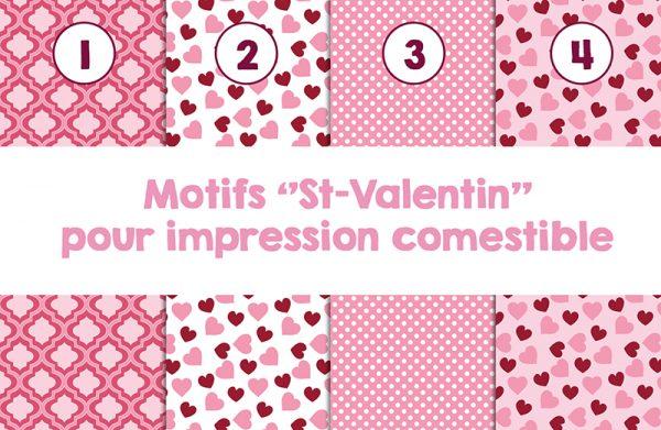 Impression comestible pour St-Valentin
